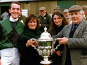 Annette accepting the Lady Dudley Cup
